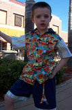 boys two piece back to school shorts set applique bts shirt and shorts outfit b2s