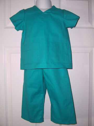 child sized scrubs big brother sister dress up scrub outfit doctor nurse veterinarian