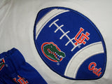 Florida Gators football shirt UF collegiate team spirit orange and blue shirt