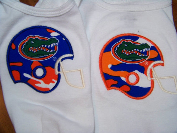 Camo Gator shirt university of florida orange and blue camafluage gators football helmet t shirt