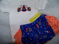 gators ruffled bottom cheer set UF  two piece diaper cover florida outfit