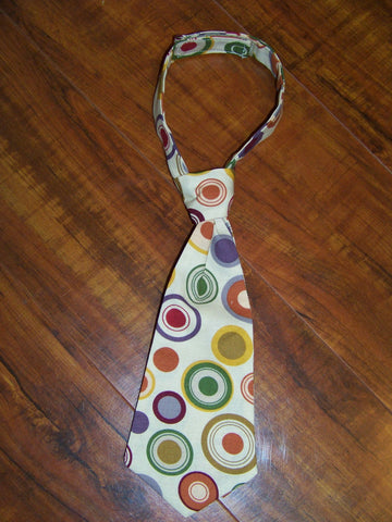 polka dot fall tie easy on/off tie for babies and toddlers necktie green brown purple