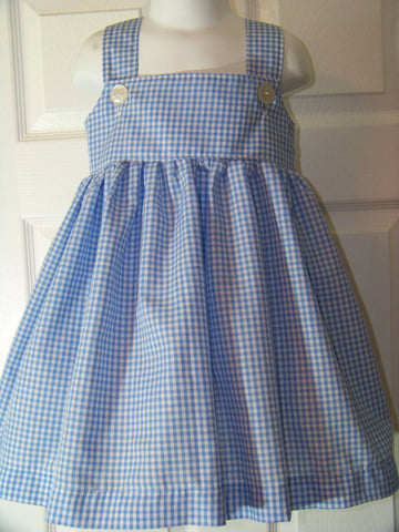 DM custom boutique Dorothy dress halloween wizard of oz costume blue and white gingham dress