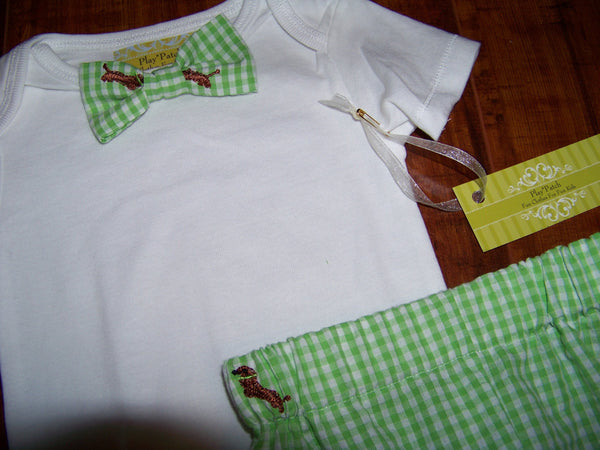 custom boutique DM boys bowtie shirt great baby shower gifts