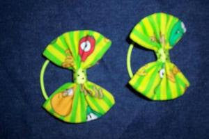 veggietales hair bow pony o's set of two veggie tales pony o's