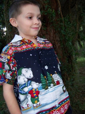 Polar Bear Christmas shirt appliqued bears holiday shirt