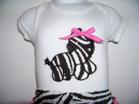 Little girl zebra shirt baby shower shirt safari gift