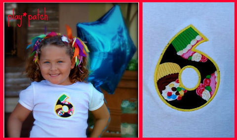 Personalized  cupcake shirt  girls cupcake birthday shirt