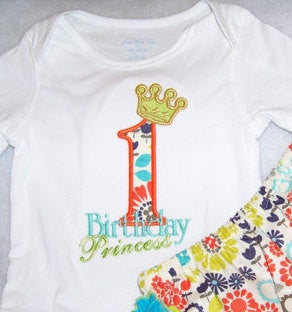 birthday princess applique shirt princess birthday tshirt