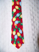 boutique boys custom christmas lightbulb tie red christmas light tie