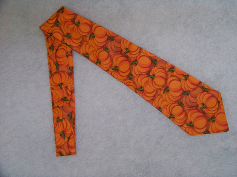 boys pumpkin tie fall child's sized tie pumpkin necktie