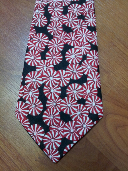 men's Christmas peppermint tie Christmas candy tie Adult Candy tie