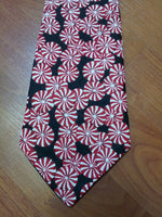 men's christmas tie custom boutique christmas peppermint necktie