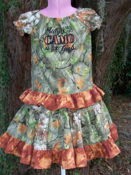 silly boys camo is for girls twirl skirt camoflauge two piece skirt set hunting skirt set