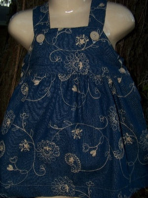denim dress denim and kahki jumper dress embroidered dress