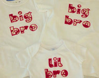 custom boutique big sis lil sis big bro lil bro baseball  shirt