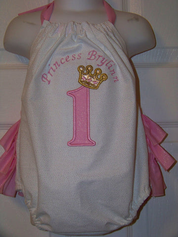 birthday princess halter bubble Personalized birthday princess applique ruffle bottom bubble princess birthday