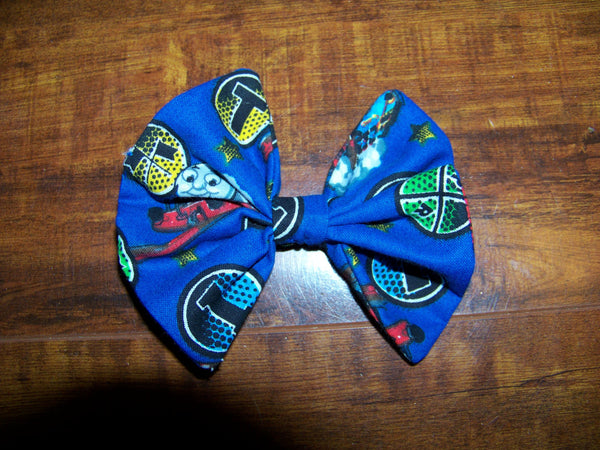 thomas the train fabric hair bow your choice of clip girls thomas the tank engine cloth hairbow