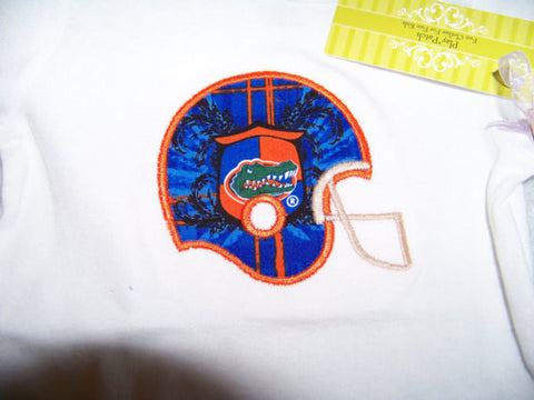 Gator shirt  university of florida orange and blue gators football helmet t shirt