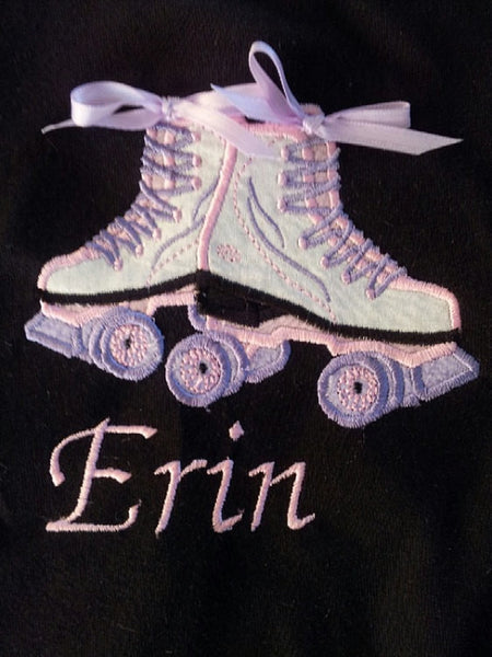 Personalized roller skate shirt girls party shirt rollerskate