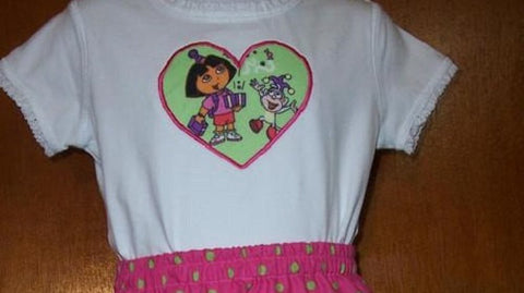 Dora and Boots Birthday shirt Custom boutique personalized dora the explorer birthday shirt