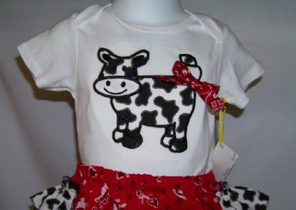 custom boutique dm personalized cow shirt for girls infants and toddlers