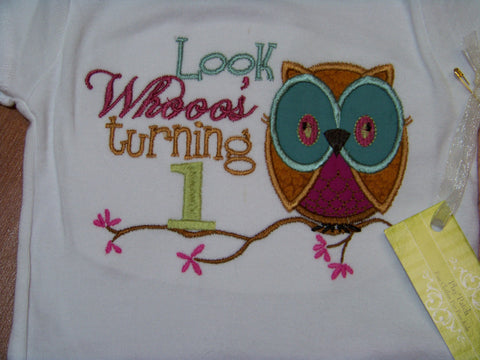 look who's one first birthday owl bodysuit girls  first birthday 1st birthday shirt