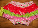 Christmas gingerbread man christmas candy ruffle bottom  diaper cover