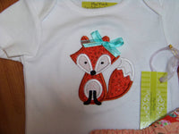 custom boutique dm personalized fox shirt shirt  for girls infants and toddlers