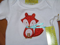 custom boutique dm personalized fox shirt shirt  for infants and toddlers and kids