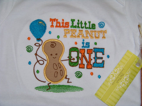 This little peanut is one birthday shirt first birthday shirt