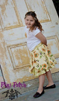 Sunflower princess two piece peekabo skirt set