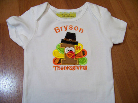 Personalized my first thanksgiving turkey shirt