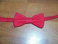 red and white polka dot tie easy on/off tie for babies and toddlers necktie