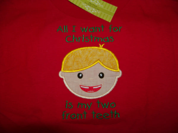 All I Want for Christmas is my two front teeth shirt christmas shirt