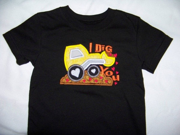 I Dig You t shirt boys valentine shirt