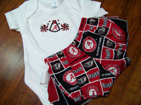 alabama two piece ruffled bottom cheerleader diaper cover bama set roll tide football outfit