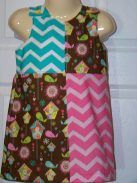 bird houses and chevron dress chevron jumper