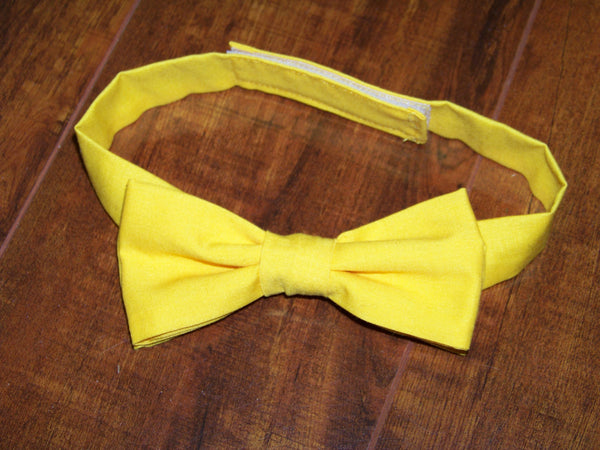 yellow child sized bowtie dress up bow tie