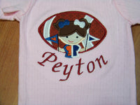 House divided Bears and Colts Custom Made Football Divided House Light Pink Bodysuit