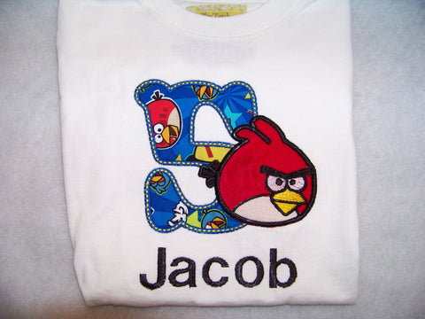 Angry Bird Birthday Shirt Personalized Birds