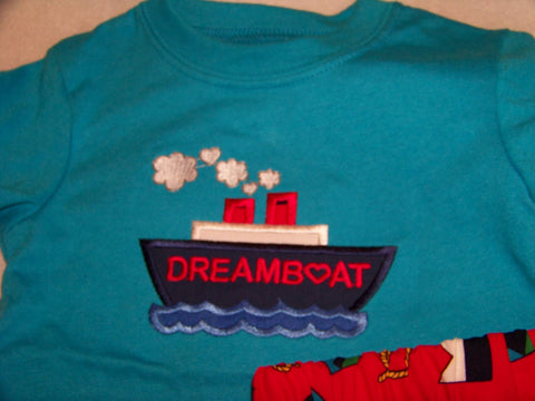 Dream Boat Two Piece Valentine's Day set Boat Short Set