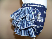 seahawks ruffled bottom team spirit seahawks diaper cover  outfit