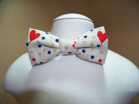 boys valentine bow tie polka dot and hearts bowtie