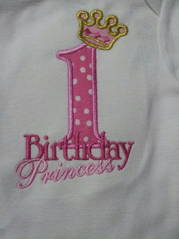 Personalized birthday princess applique shirt princess birthday tshirt pink and purple  princess crown t shirt