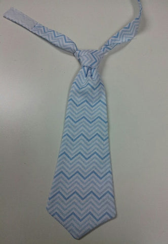 blue chevron tie easy on/off tie for babies and toddlers necktie