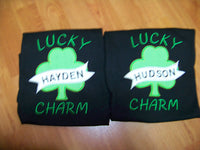 Lucky Charm Irish Clover Inspired Boys Shirt