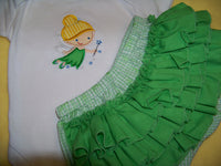 Tinkerbell Fairy inspired two piece diaper cover set