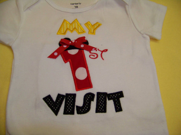 My First Visit  Shirt Minnie Mouse inspired 1st Visit Shirt