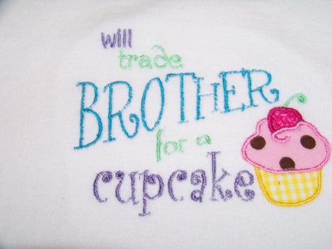 Will sell brother for a Cupcake shirt  Cupcake girls Sibling shirt